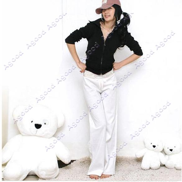 Lady-Yoga-Sport-Drawstring-Pants-Cotton-Lie-Fallow-Stylish-Trousers-3-Colors-New