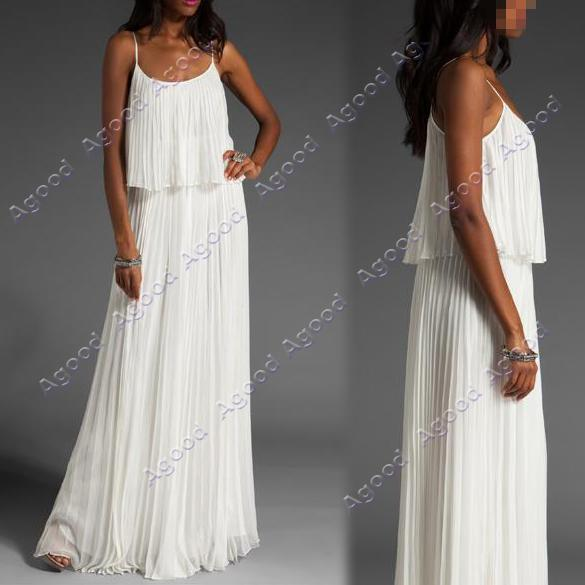Summer-Lady-Womens-Boho-Sexy-Ruffle-Elegant-Maxi-Long-Dress-White-Purple
