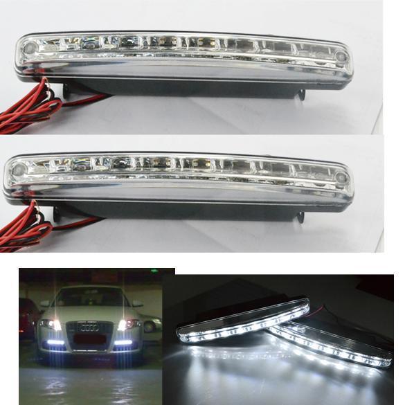 NEW-2X-Car-8-LED-DRL-Driving-Daytime-Running-Day-LED-Light-Head-Lamp-Super-White
