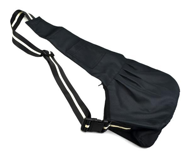 Black Oxford Cloth Sling Pet Dog Cat Tote Single Shoulder Carrier Bag