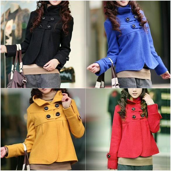 4-Colors-Women-Korean-Fashion-Temperament-Woolen-Turtleneck-Coat-Outwear-Jacket