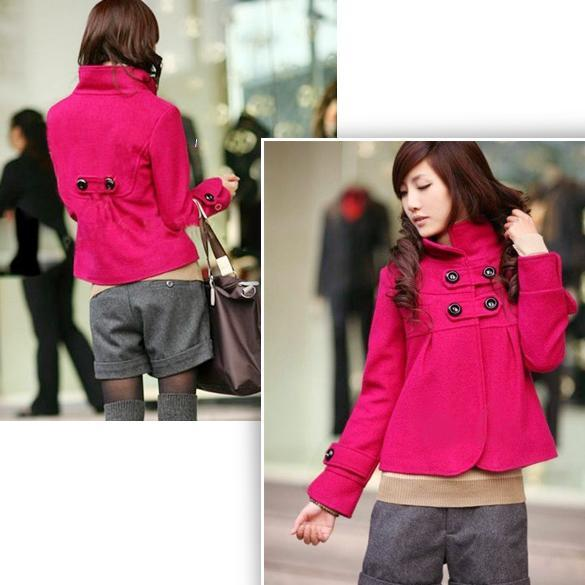 4-Colors-Women-Korean-Fashion-Temperament-Woolen-Turtleneck-Coat-Outwear-Jacket