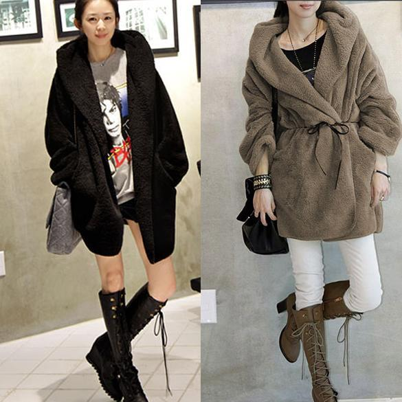 New Fashion Women's Hoodie Down Warm Outerwear Cardigan Jacket Coat One Size